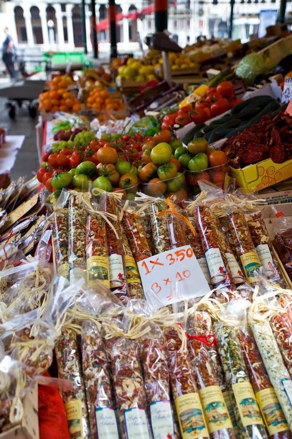 Delicatessen uit Treviso stock fotografie
