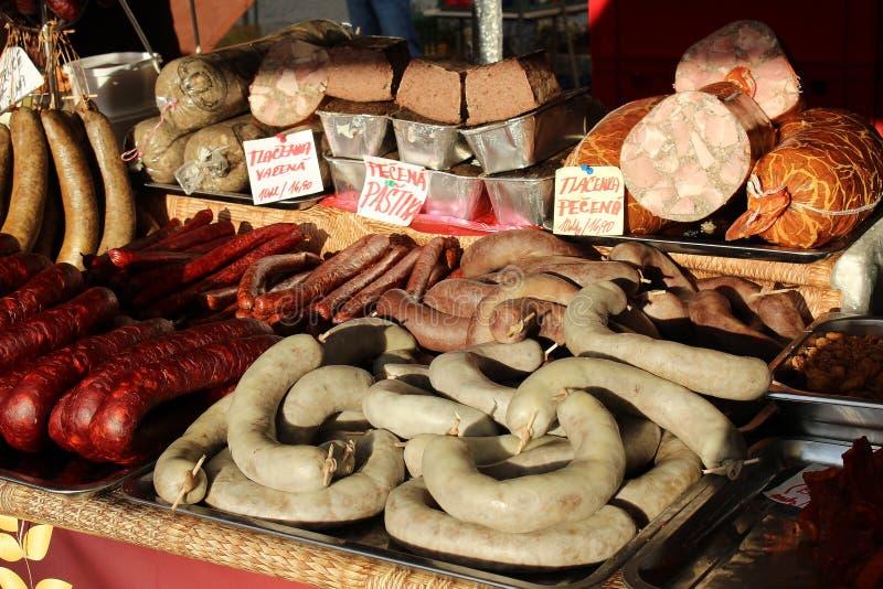 Delicatessen van vlees royalty-vrije stock foto