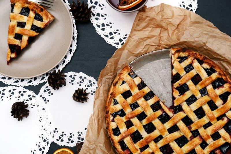 Delicioso, torta de mirtilo fotos de stock royalty free