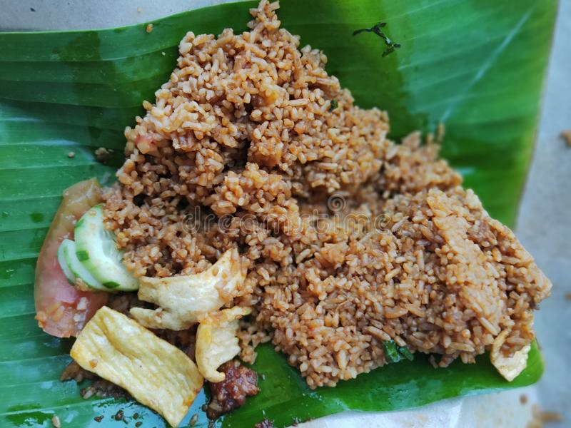 delicious Acehnese fried rice royalty free stock image