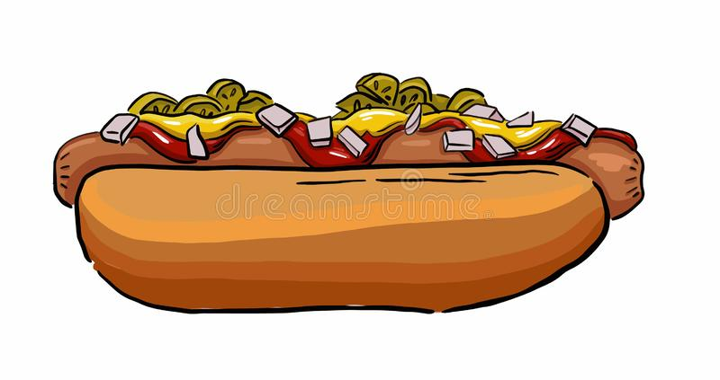 American fast food pattern royalty free stock photo
