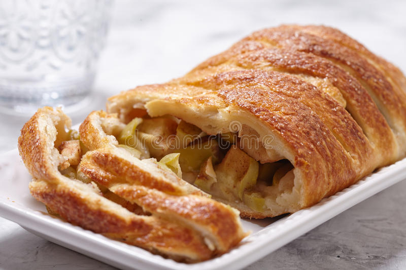 Delicious apple strudel stock images