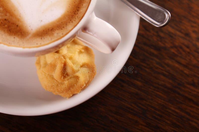 Delicious aromatic cappuccino stock photos