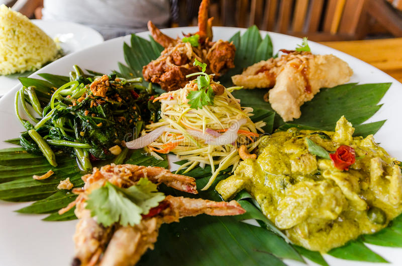 Delicious Asian Platter in Penang, Malaysia stock image