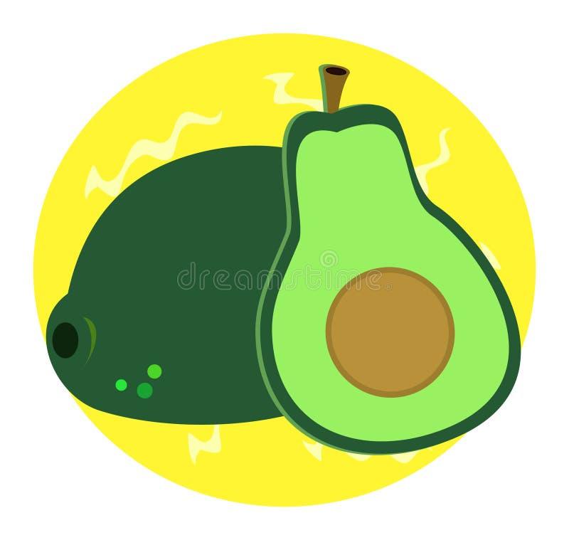 Download Delicious Avocado stock vector. Image of vitamins, nutritious - 21039166