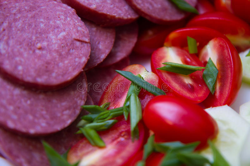 Delicious and beautiful appetizer stock photos