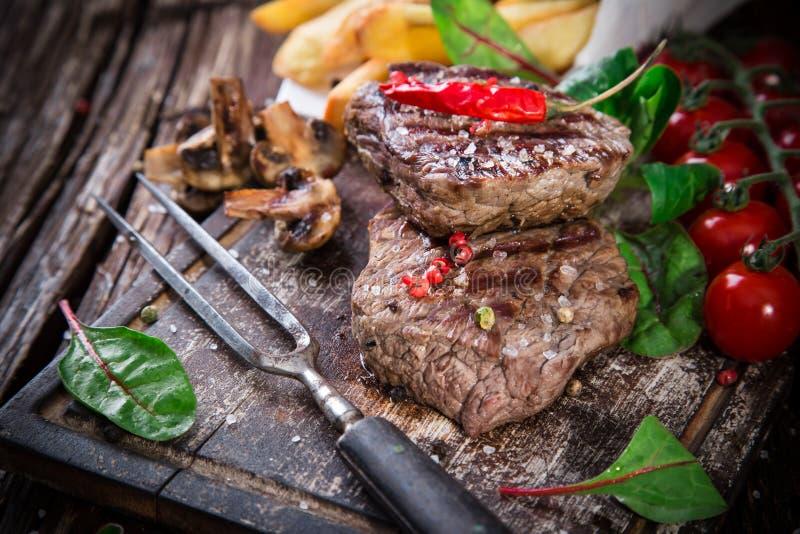 Delicious beef steak stock image