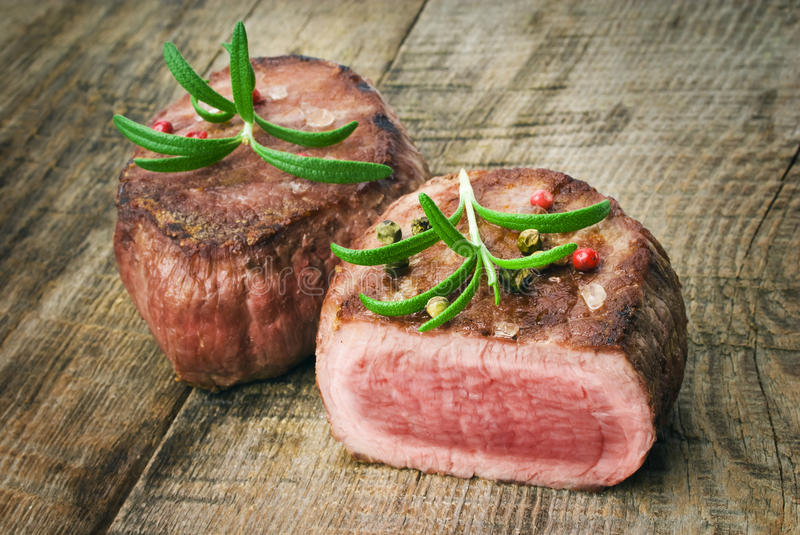 Delicious beef steak royalty free stock images