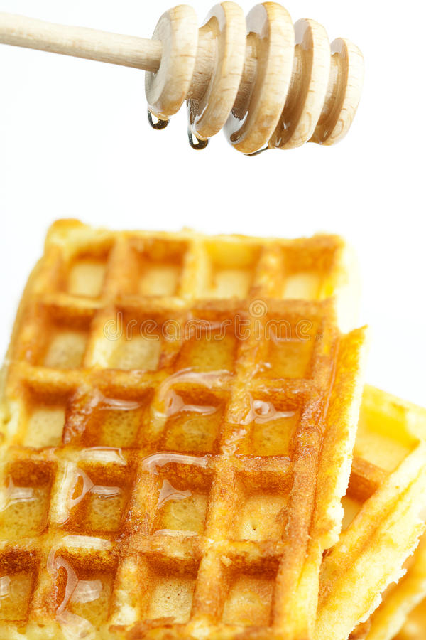 Delicious Belgian waffles stock image