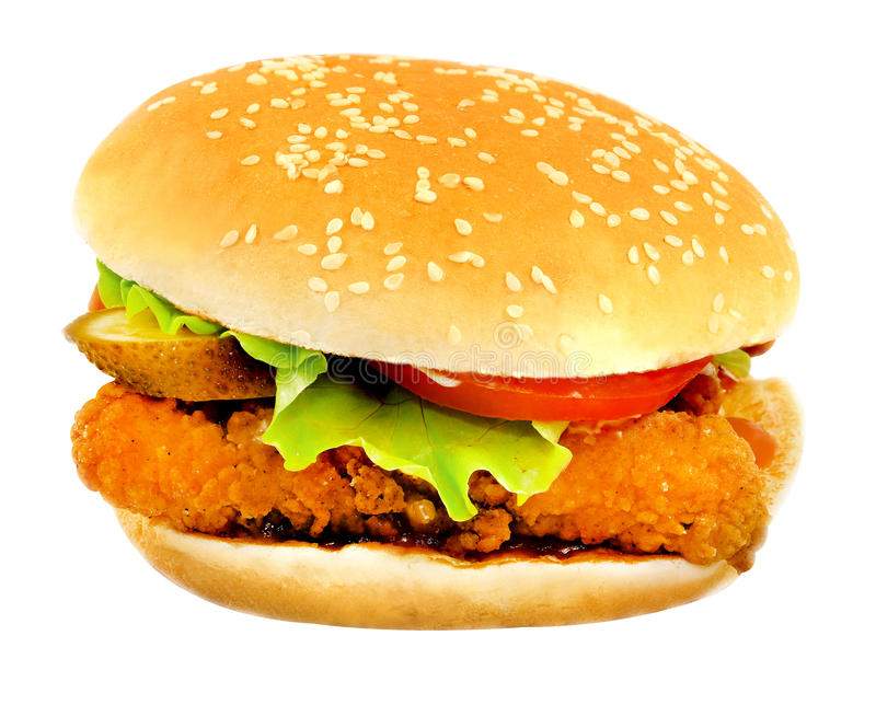 Delicious big burger stock image