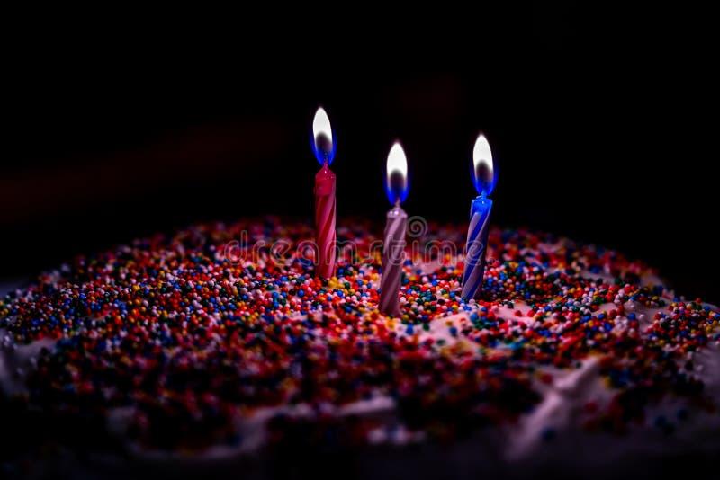 A delicious birthday cake stock photos