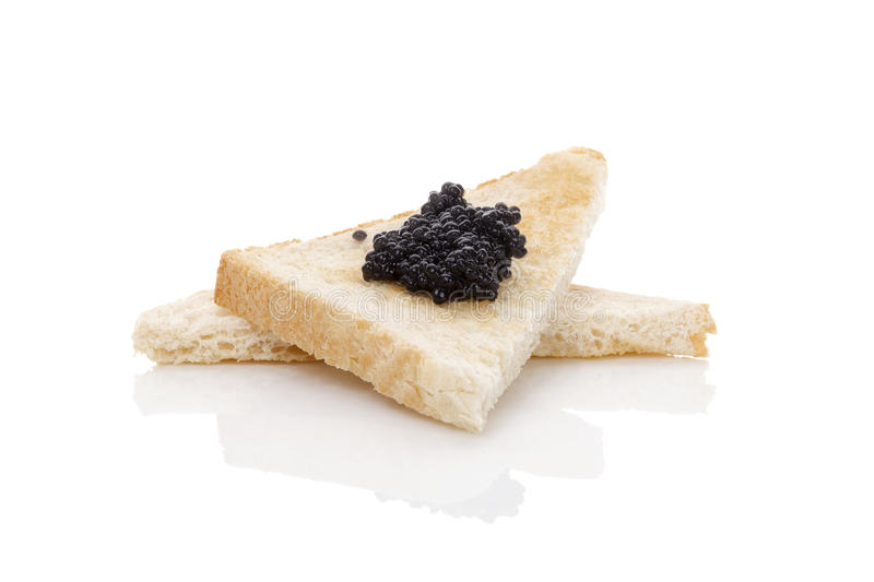 Delicious black caviar. royalty free stock photo