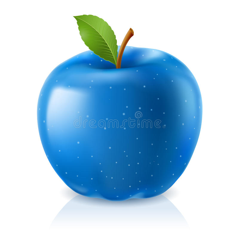 Download Delicious blue apple stock vector. Image of health, diet - 21034550