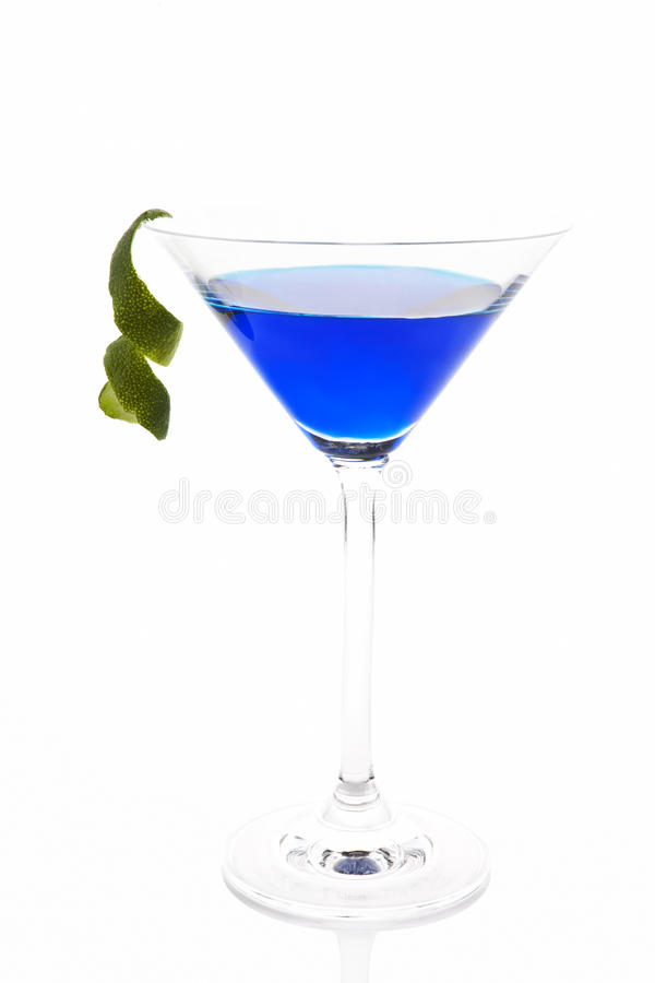 Delicious blue cocktail. stock images