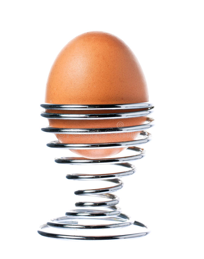 Free Delicious Boiled Brown Egg In A Cup Stock Images - 17981954