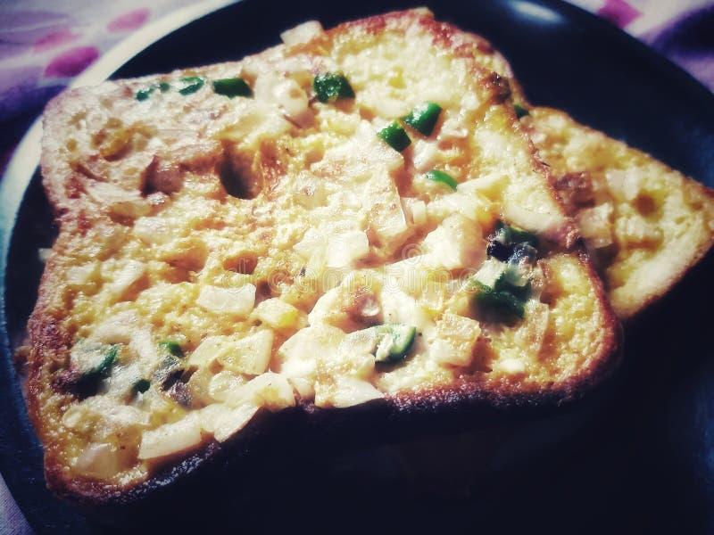 Delicious Bread Omlet. Omletfood, imlet, homemade stock photo