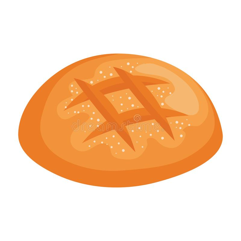 Delicious bread pastry icon royalty free illustration