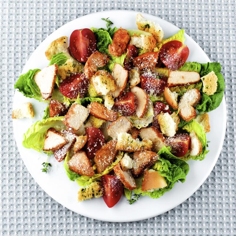 Delicious Caesar Salad royalty free stock photography
