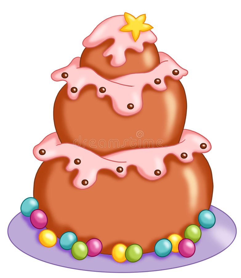 Download Delicious cake stock illustration. Image of object, icon - 15443978