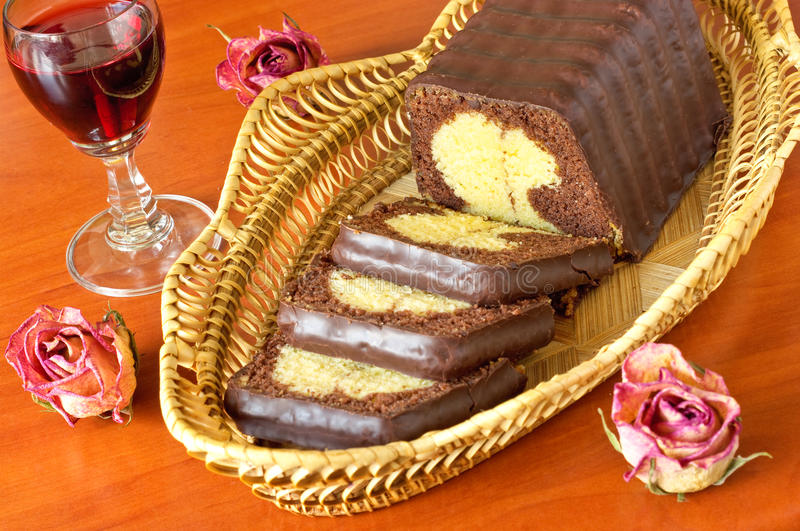 Delicious Cake With Chocolate Royalty Free Stock Image