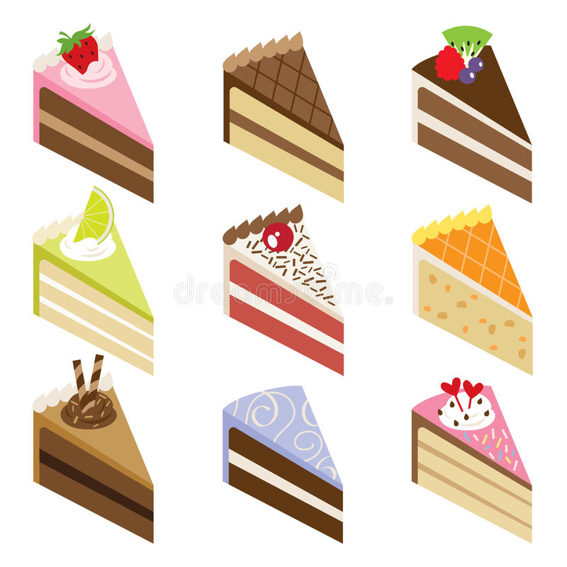 Download Delicious Cake Slices stock vector. Illustration of decoration - 13284730