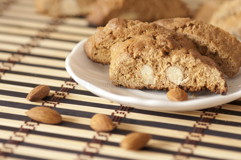 Delicious cantuccini cookies royalty free stock photo