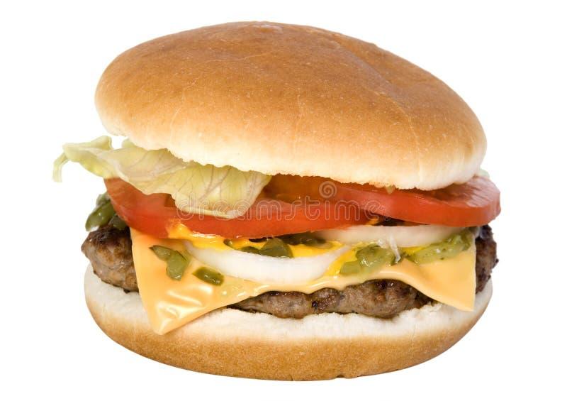 Delicious cheese burger stock photos