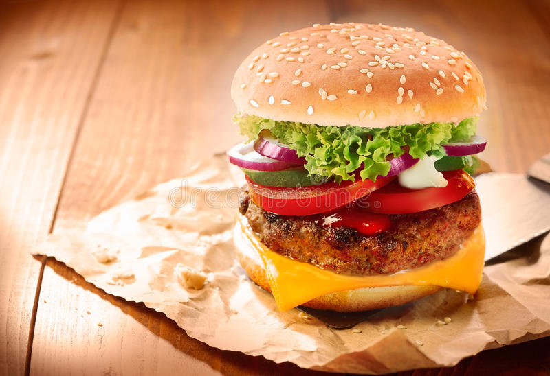 Download Delicious cheeseburger stock photo. Image of junk, grilled - 28852156