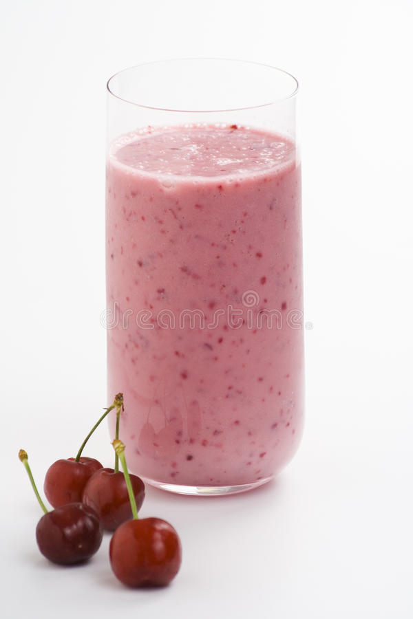 A delicious cherry milkshake stock photos