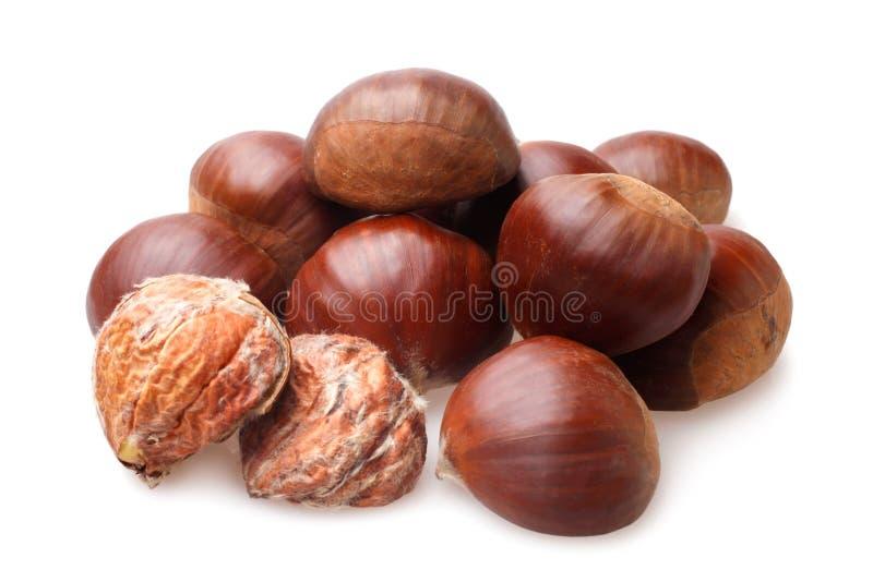 Delicious chestnuts stock photos