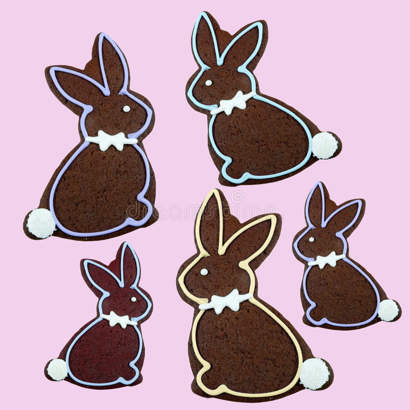 Download Delicious Chocolate Easter Bunny Cookie Stock Image - Image of bunny, chocolate: 39505047