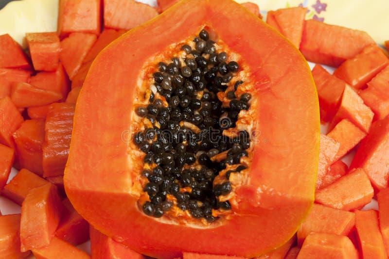 Download Delicious Chopped Papaya Fruit Stock Photography - Image: 14237622