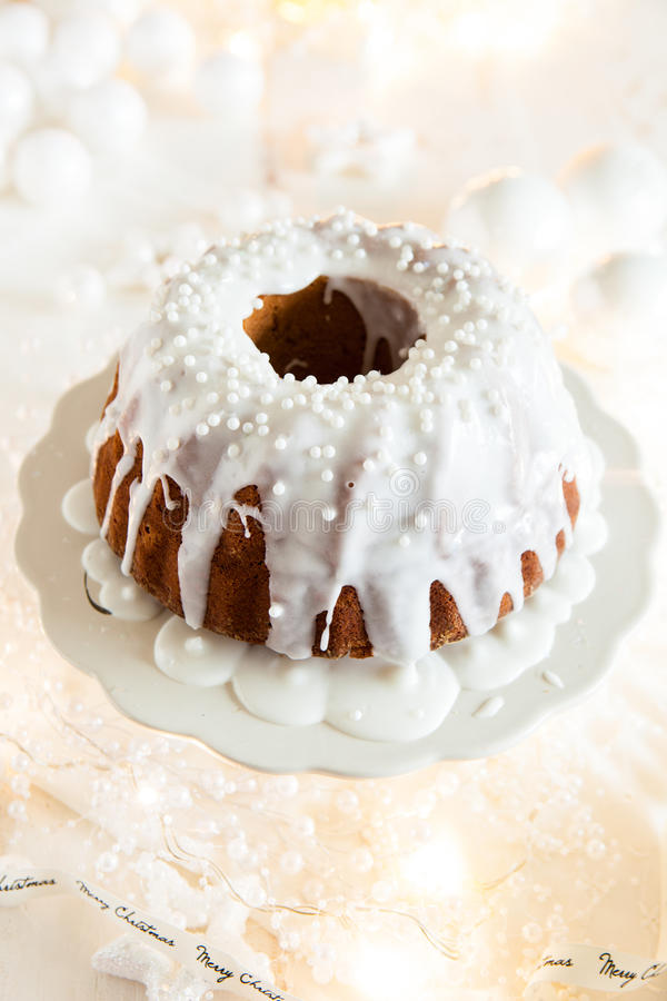 Delicious Christmas Bundt Royalty Free Stock Images