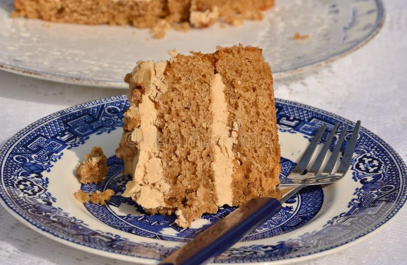 Delicious coffee cake stock photography