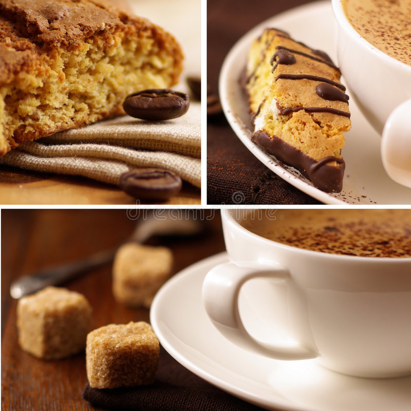 Delicious coffee. Collage stock image