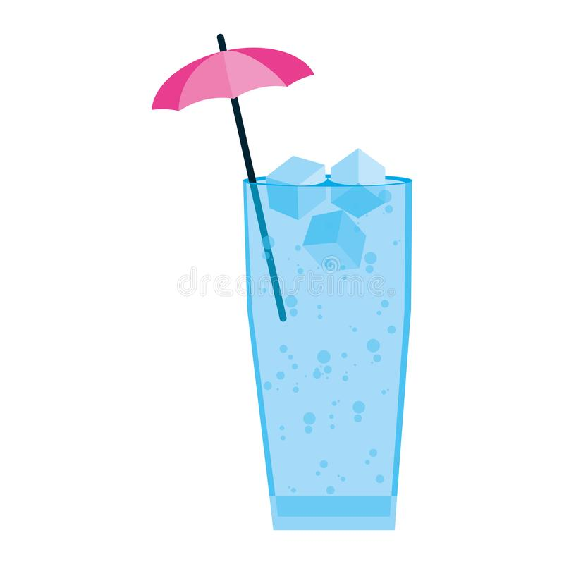 Free Delicious Cold Beverage Glass With Umbrella Royalty Free Stock Photos - 141808718