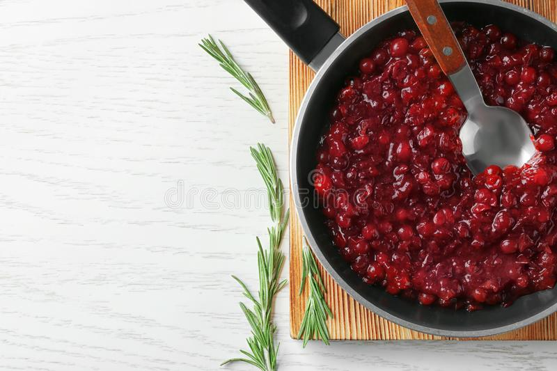 Delicious cranberry sauce stock images