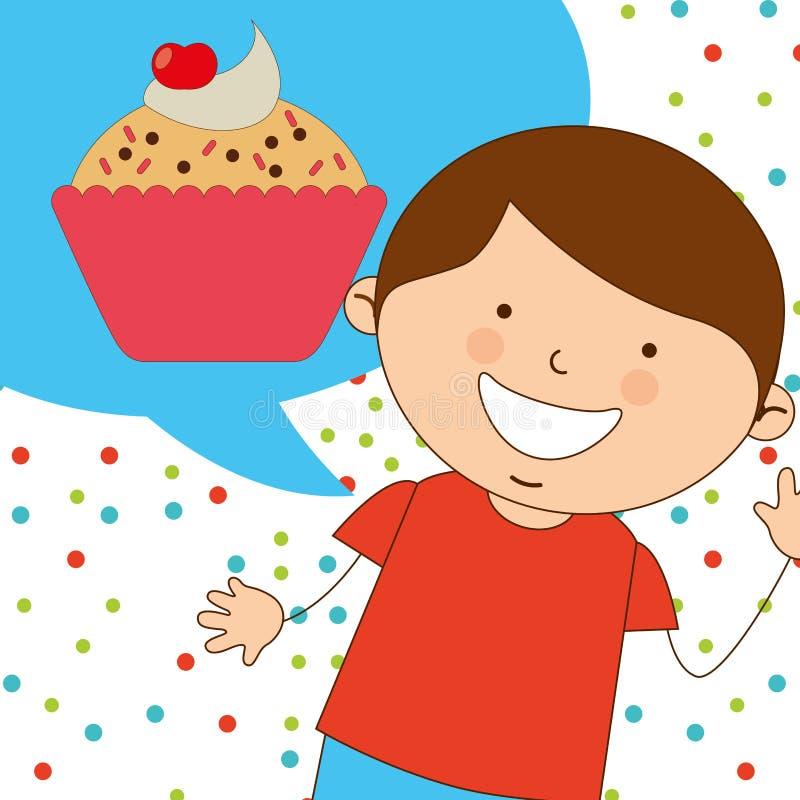 Delicious cupcake. Design, vector illustration eps10 graphic stock illustration