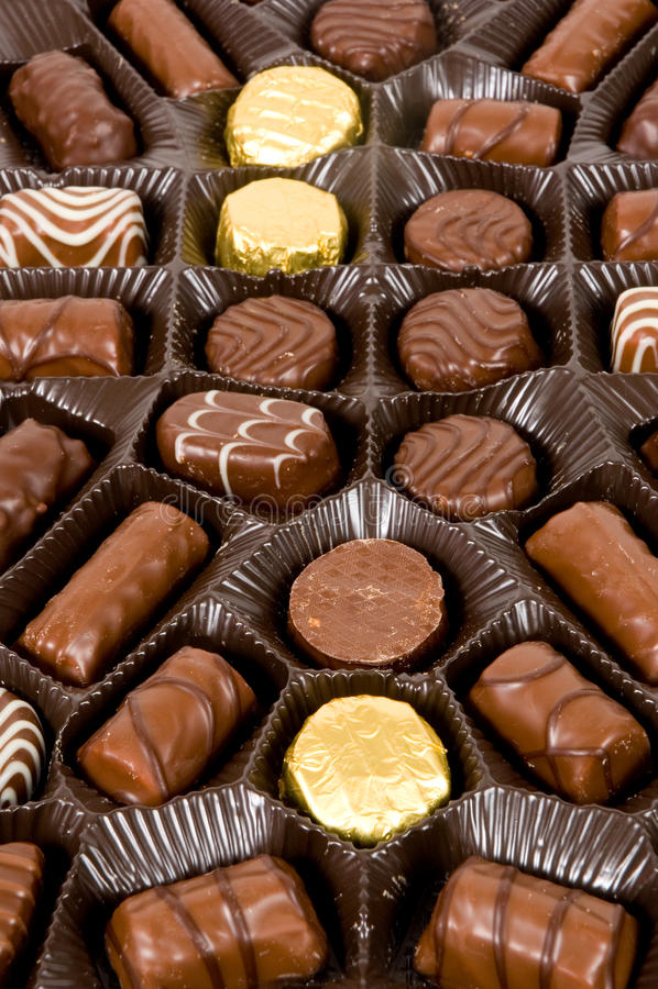 Free Delicious Dark, Milk, And White Chocolate Pralines Stock Images - 12461494