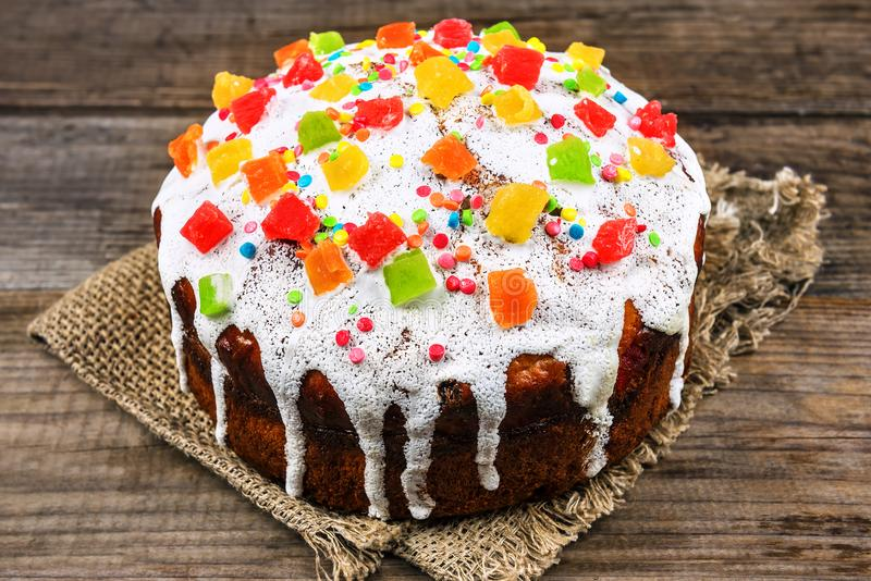 Delicious Easter cake stock photos