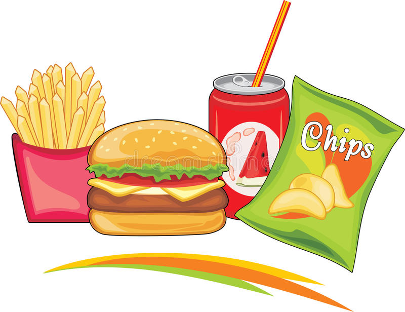 Delicious fast food stock image