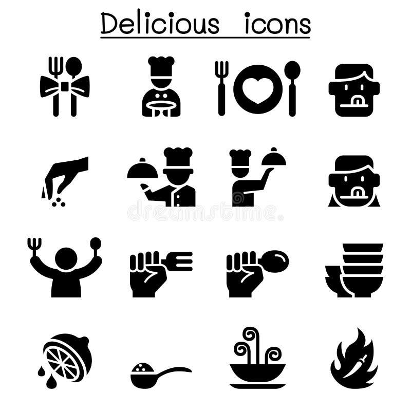 Delicious food icon set. Vector illustration graphic design vector illustration