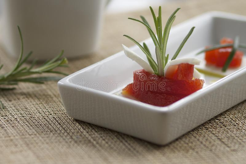 Delicious Fresh Cheese And Quince Royalty Free Stock Photos