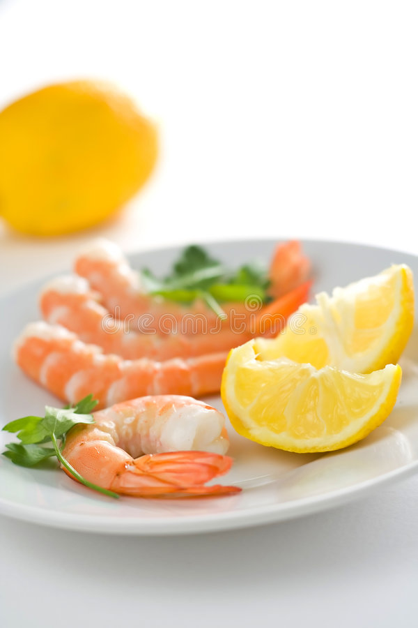 Download Delicious Fresh Cooked Shrimp Prepared Royalty Free Stock Photos - Image: 7226428