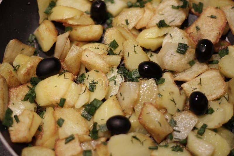 Tasty potato. Delicious fried potatoes stock photography