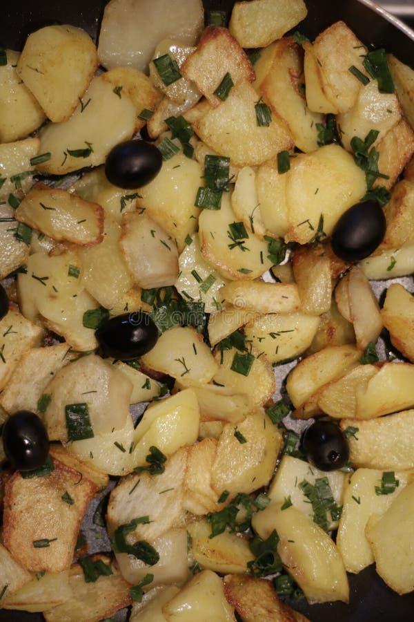 Tasty potato. Delicious fried potatoes stock image