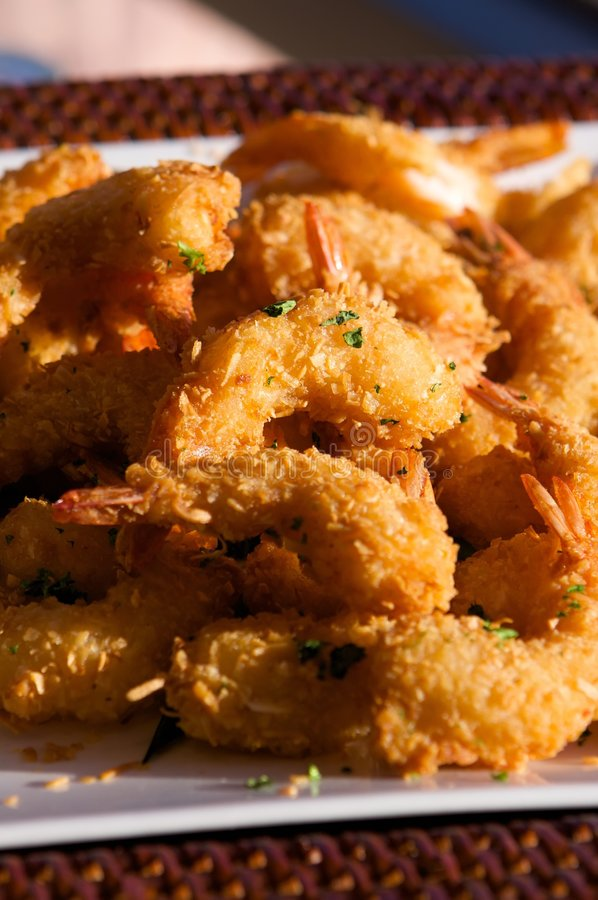 Delicious fresh fried shrimp. An image of delicious fresh fried shrimp stock image