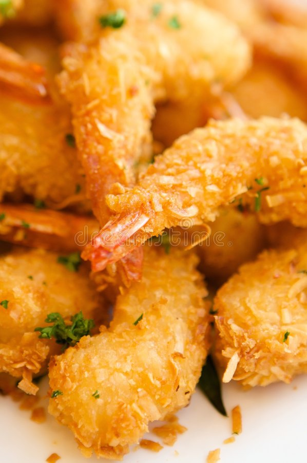 Delicious fresh fried shrimp. An image of delicious fresh fried shrimp royalty free stock photos