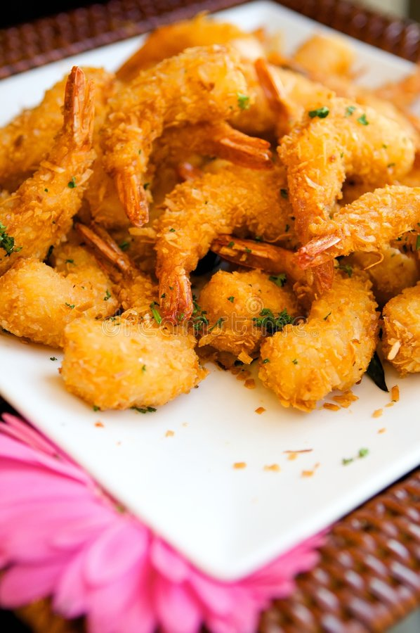 Delicious fresh fried shrimp. An image of delicious fresh fried shrimp stock images
