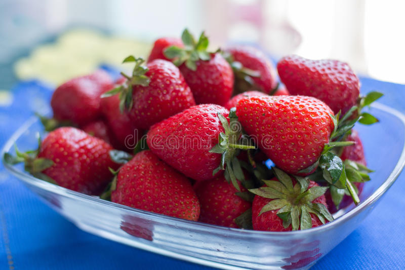 Delicious fresh strawberries stock images
